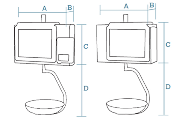 Hanging PC scales Dibal CS-2100 Series