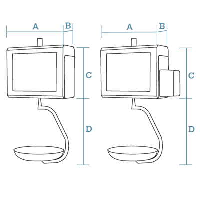 Hanging PC scales CS-2200 Series