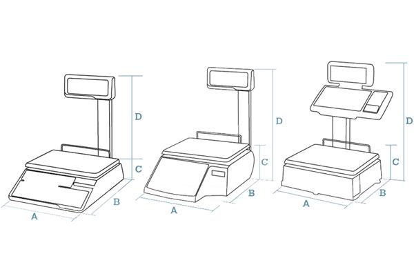 Counter scales Dibal MISTRAL Series (500 Range)
